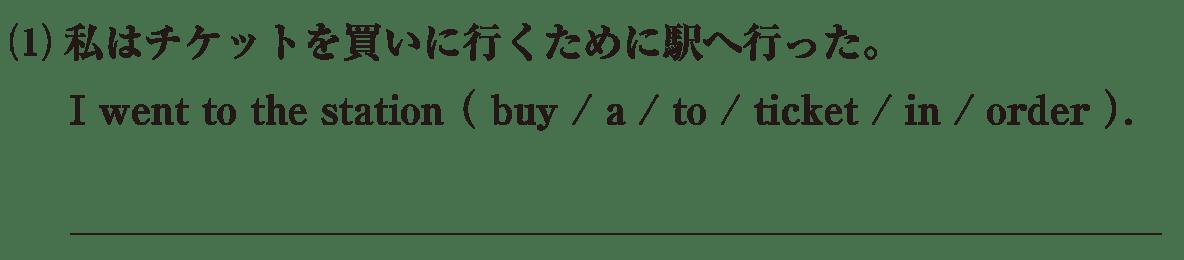 不定詞4の練習(1) アイコンなし