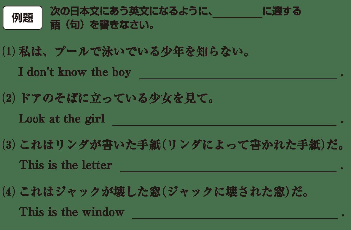 分詞1の例題(1)(2) アイコンあり