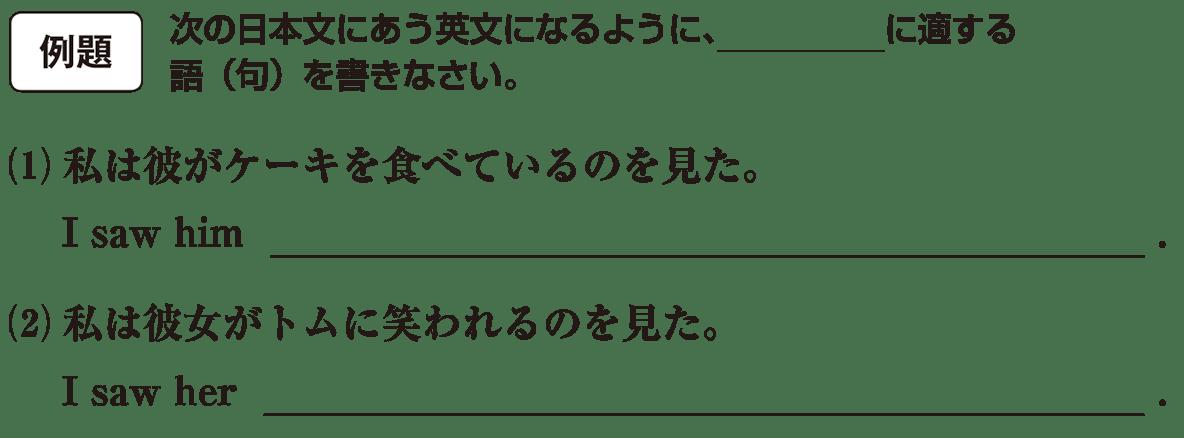 分詞7の例題(1)(2) アイコンあり