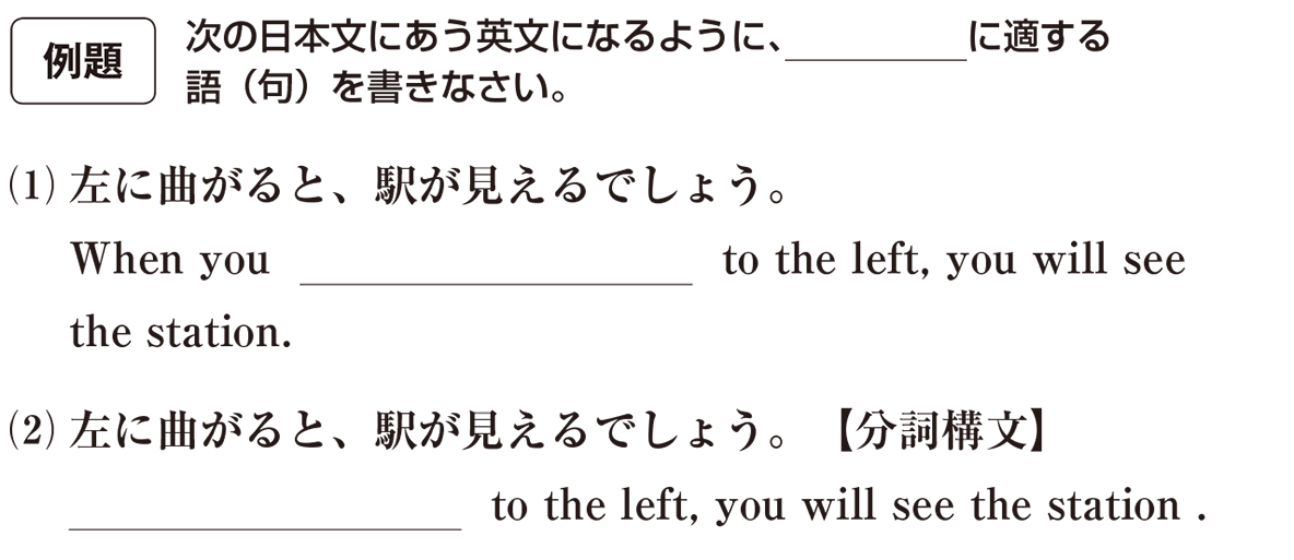 分詞9の例題(1)(2) アイコンあり