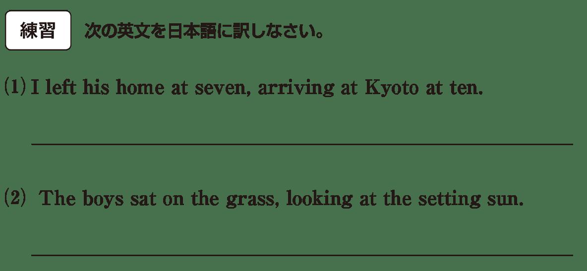 分詞14の練習(1)(2) アイコンあり