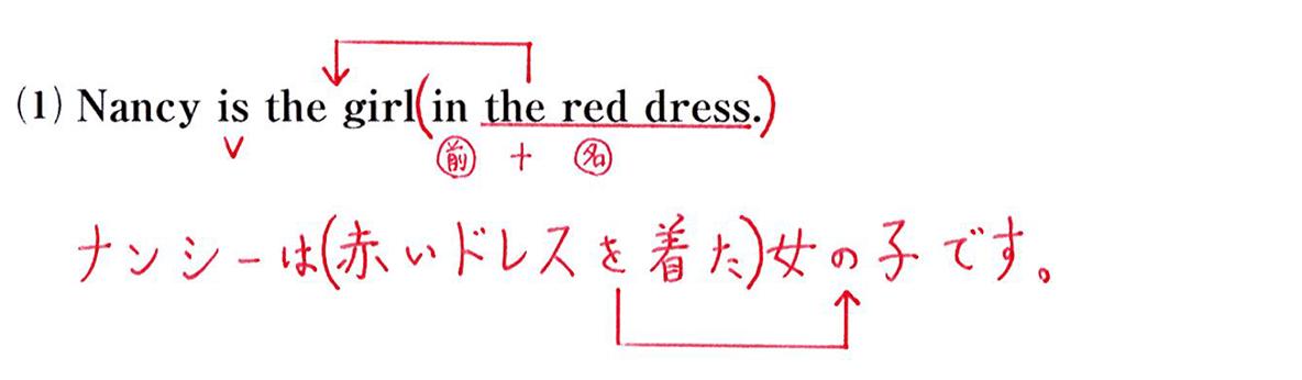 問題(1)英文書き込みアリ+和訳