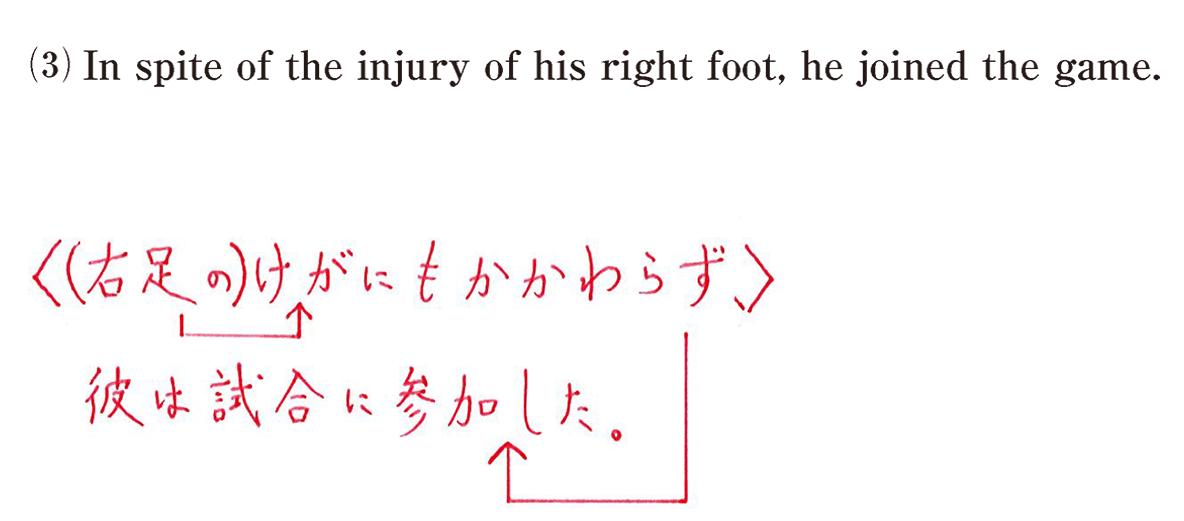 問題(3)英文書き込みナシ+和訳