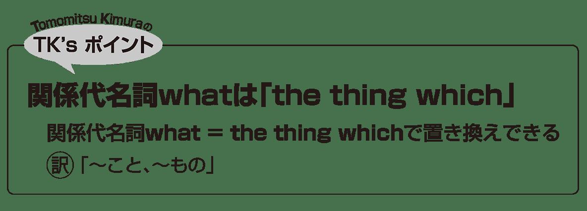 英語構文 関係詞の眺め方10 TK'sポイント