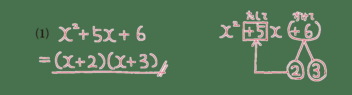 高校数学Ⅰ 数と式16 例題(1)の答え