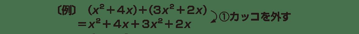 高校数学Ⅰ 数と式5 ポイント 上から2行の式と①のみ