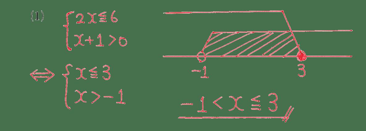 高校数学Ⅰ 数と式44 例題(1)の答え