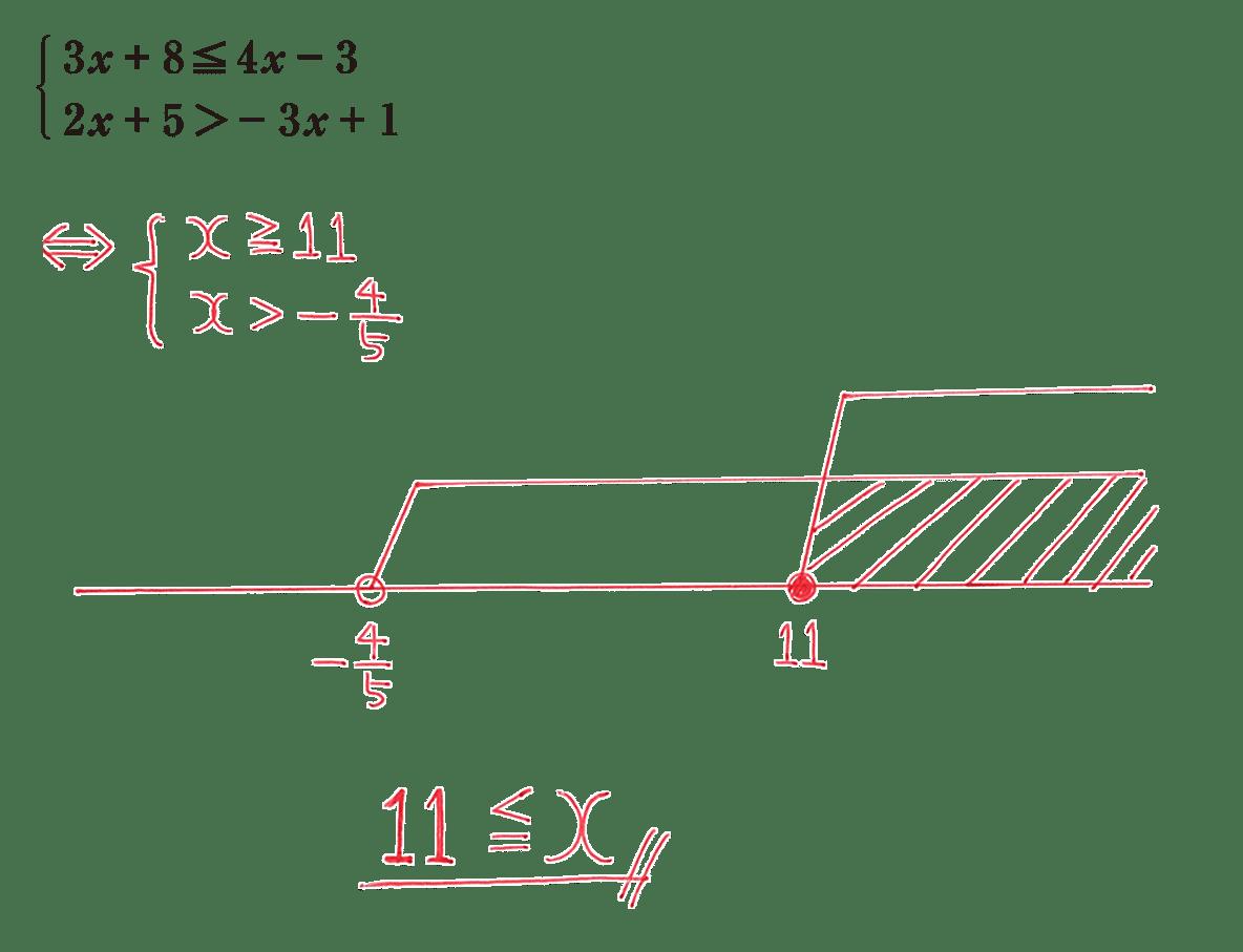 高校数学Ⅰ 数と式44 練習の答え