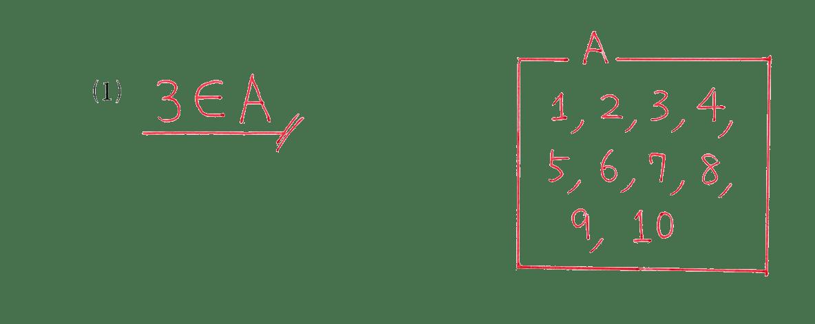 高校数学Ⅰ 数と式60 例題(1)の答え