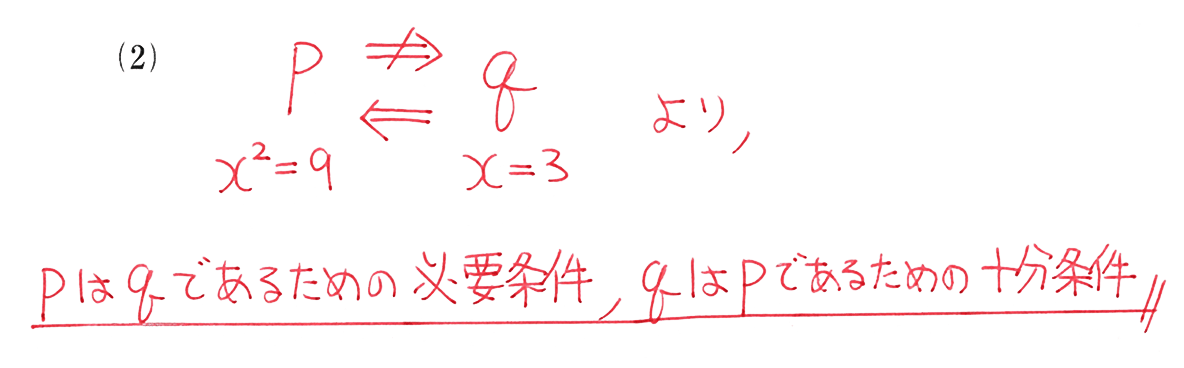 高校数学Ⅰ 数と式74 例題(2)の答え
