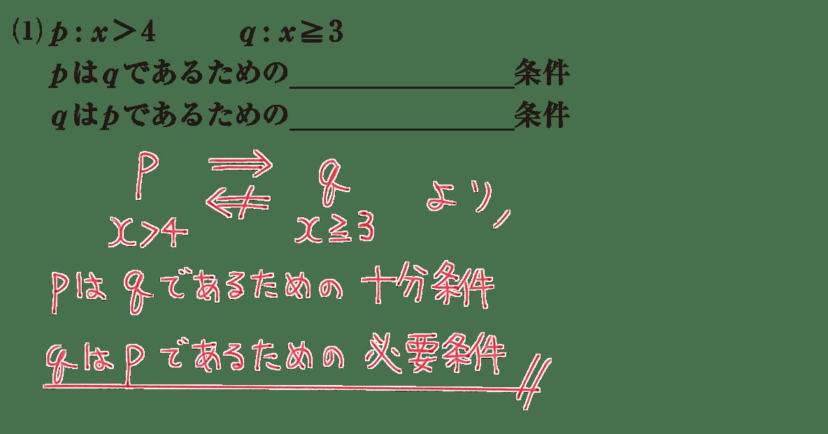 高校数学Ⅰ 数と式74 練習(1)の答え