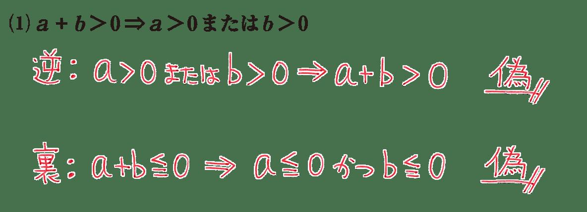 高校数学Ⅰ 数と式77 練習(1)の答え