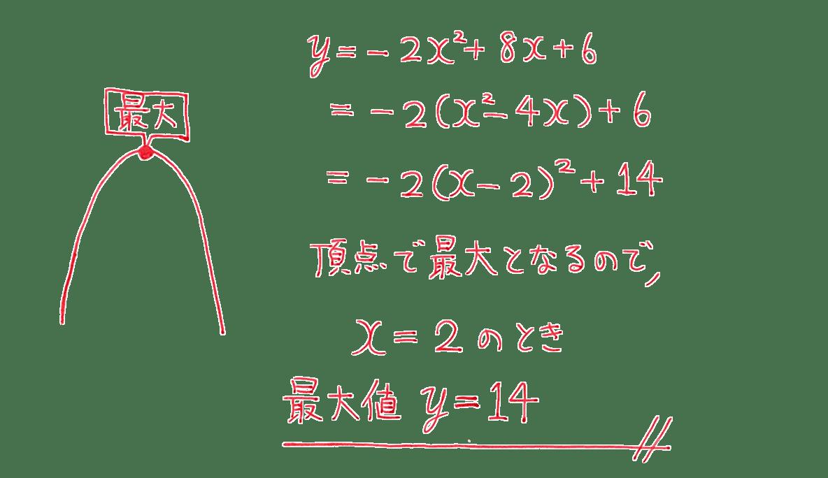 高校数学Ⅰ 2次関数20 練習(2)の答え