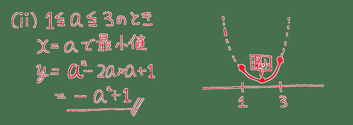 高校数学Ⅰ 2次関数23 練習の答え(ⅱ)のみ