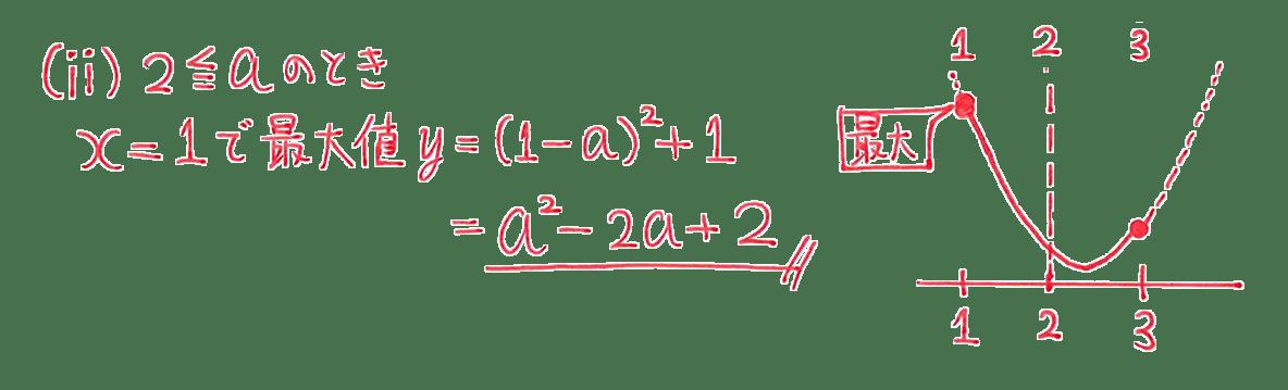 高校数学Ⅰ 2次関数24 例題の答え(ⅱ)のみ