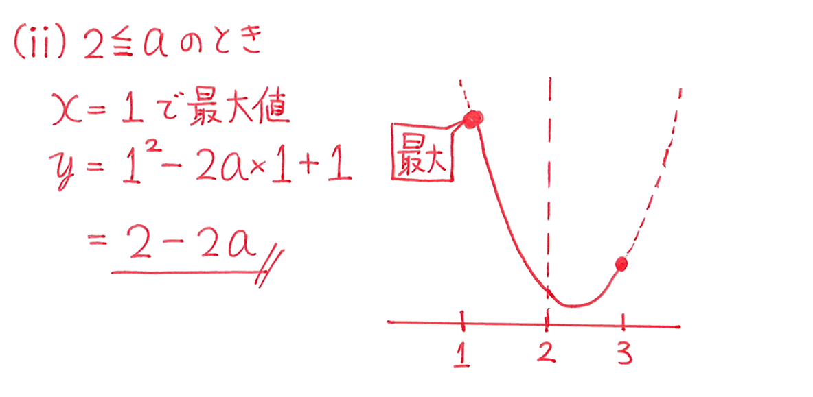 高校数学Ⅰ 2次関数24 練習の答え(ⅱ)のみ