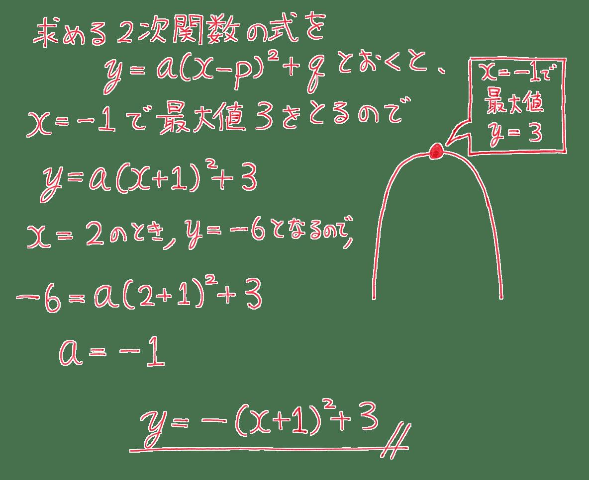 高校数学Ⅰ 2次関数28 練習の答え