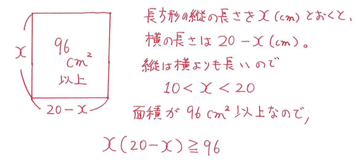 高校数学Ⅰ 2次関数48 練習の答えの途中 1行目から6行目まで