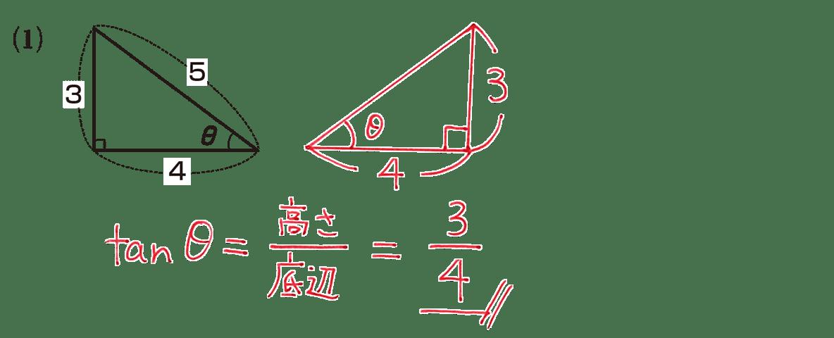 高校数学Ⅰ 三角比2 練習(1)の答え
