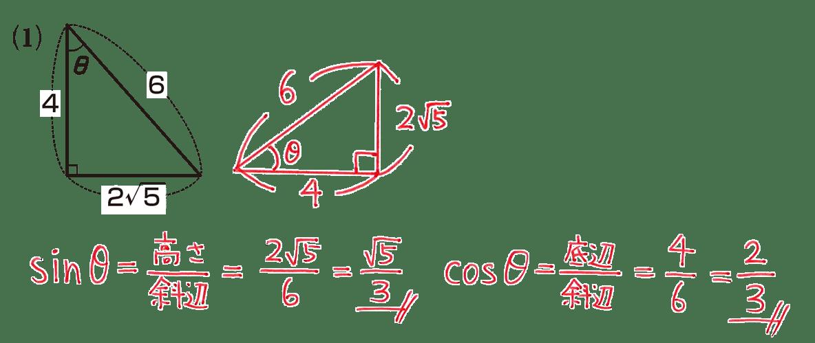 高校数学Ⅰ 三角比3 練習(1)の答え