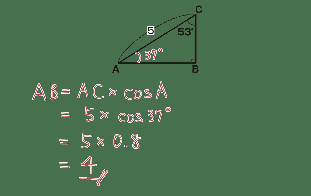 高校数学Ⅰ 三角比6 練習の答え 4行目まで