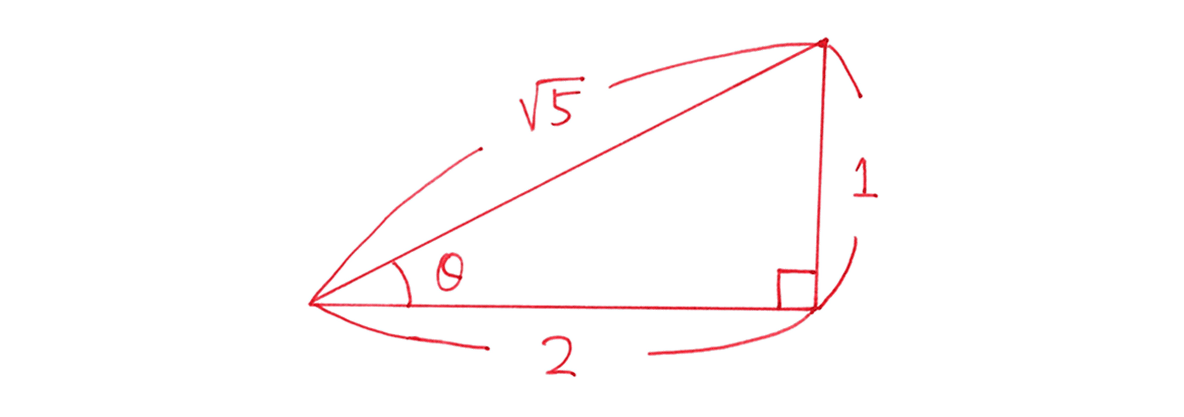 高校数学Ⅰ 三角比8 練習の答え 直角三角形の図