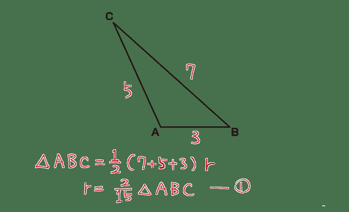 高校数学Ⅰ 三角比33 練習の答えの途中式 2行目まで