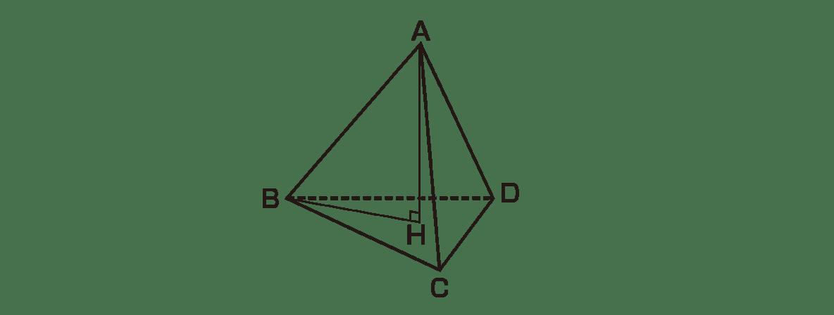 高校数学Ⅰ 三角比36 例題の正四面体の図