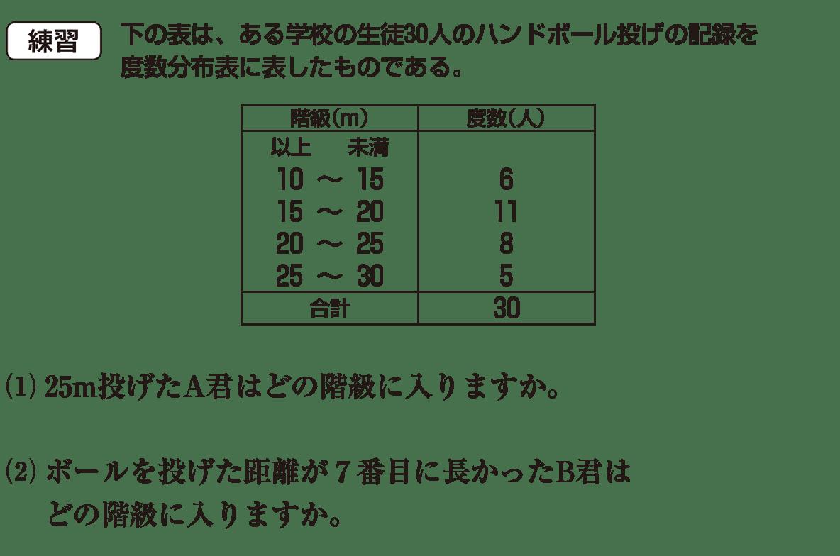 高校数学Ⅰ データ分析1 練習