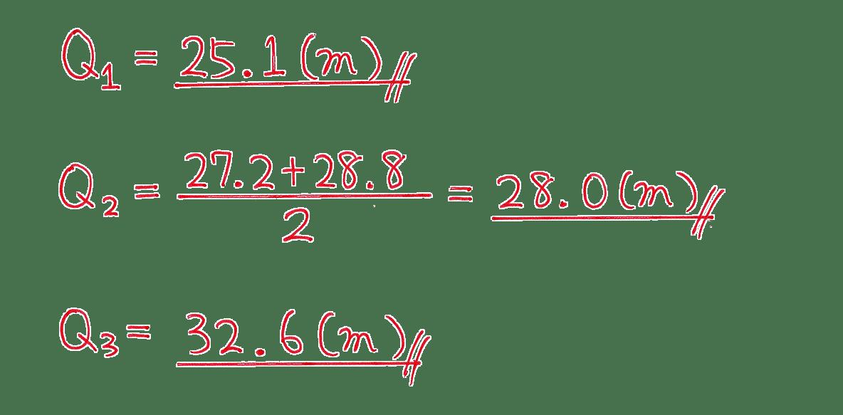 高校数学Ⅰ データ分析6 例題 答え