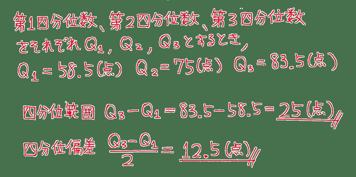 高校数学Ⅰ データ分析7 練習の答え