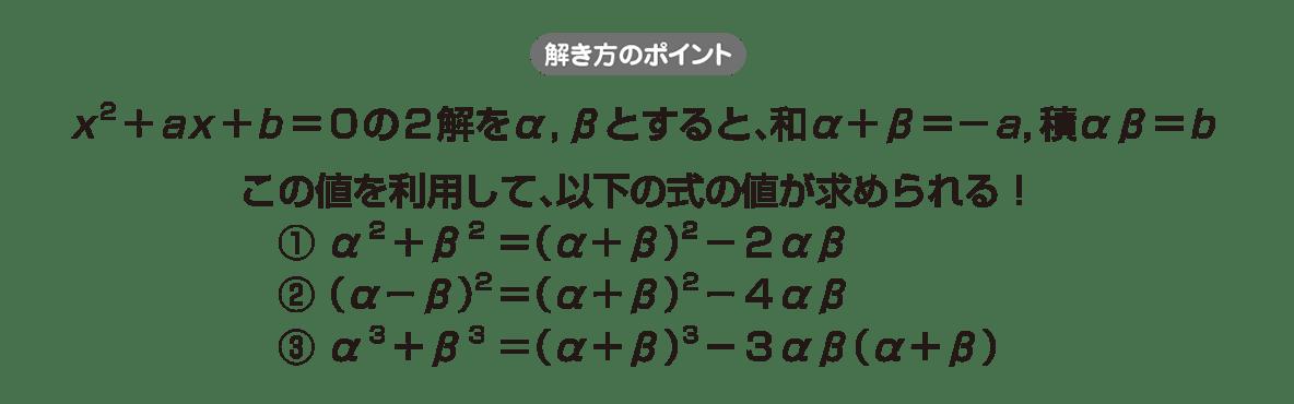 高校数学Ⅱ 複素数と方程式14 ポイント