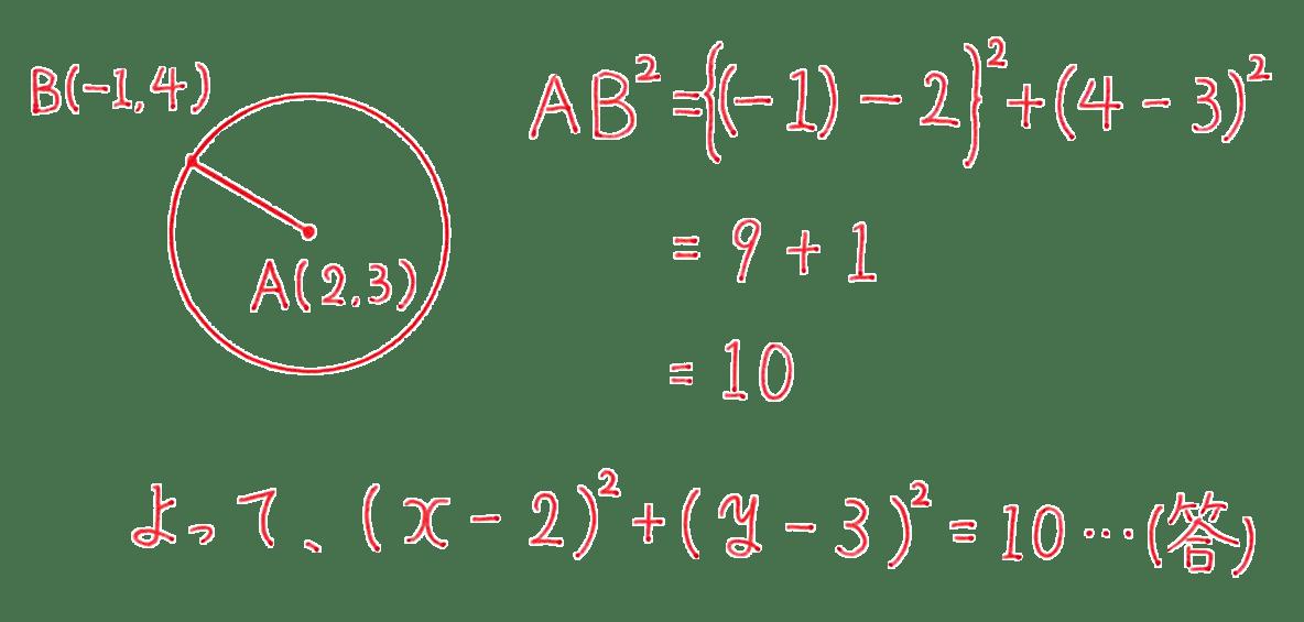 高校数学Ⅱ 図形と方程式15 例題 答え