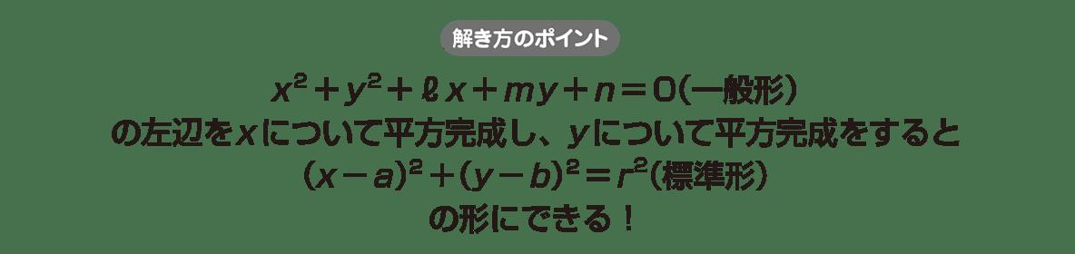 高校数学Ⅱ 図形と方程式16 ポイント