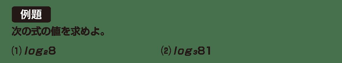 高校数学Ⅱ 指数関数・対数関数10 例題