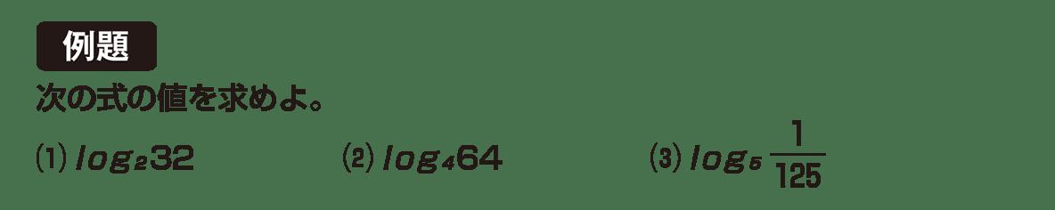 高校数学Ⅱ 指数関数・対数関数11 例題