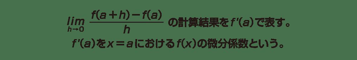 高校数学Ⅱ 微分法と積分法3 ポイント1~2行目