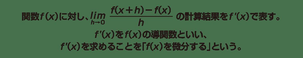 高校数学Ⅱ 微分法と積分法4 ポイント1~2行目