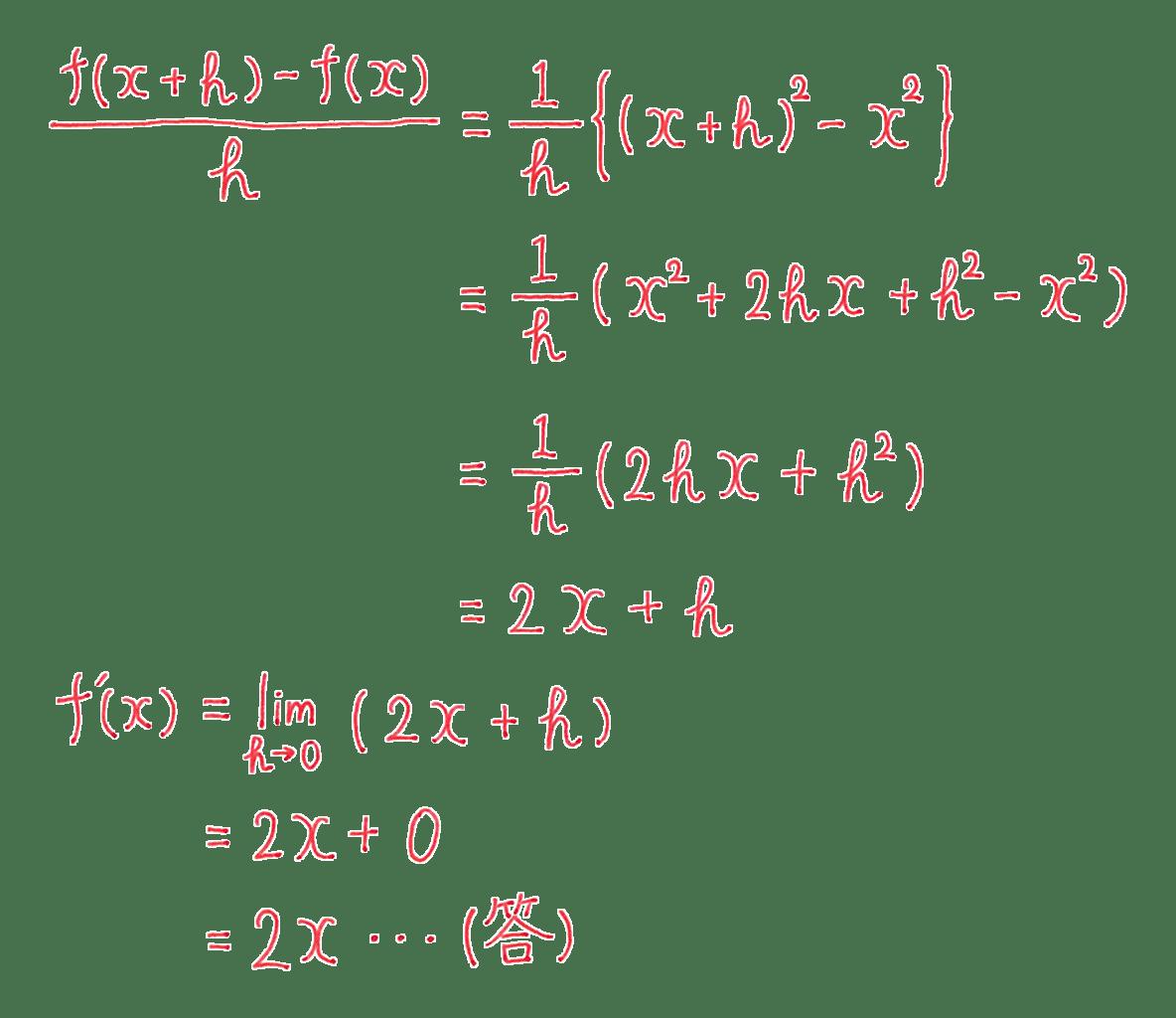 高校数学Ⅱ 微分法と積分法4 例題 答え