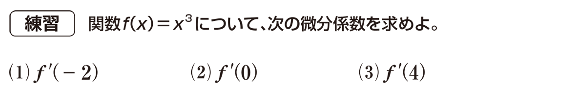 高校数学Ⅱ 微分法と積分法5 練習
