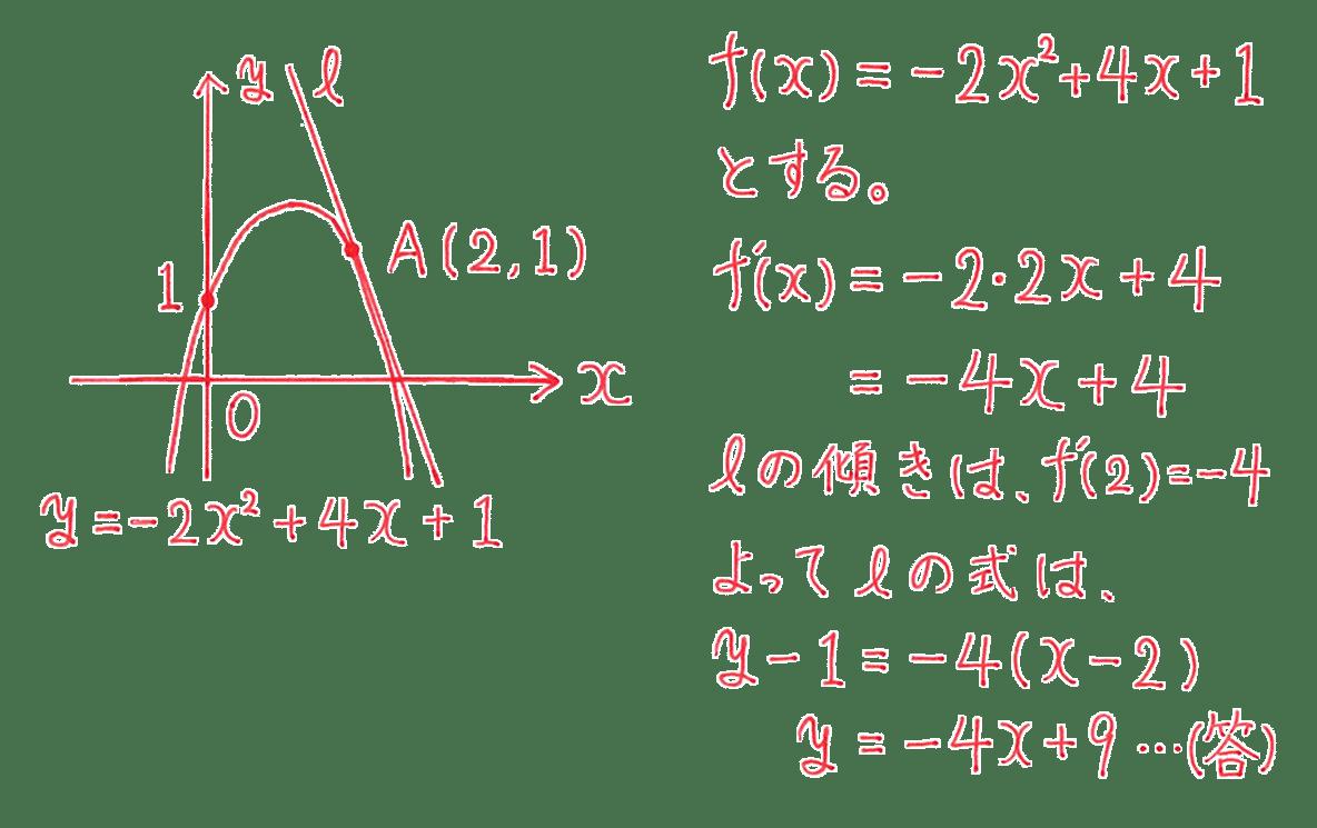 高校数学Ⅱ 微分法と積分法9 例題 答え