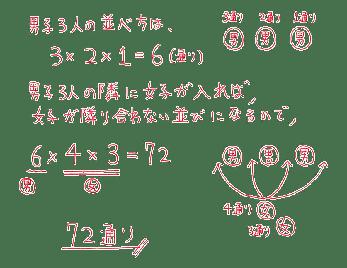 高校数学A 場合の数と確率18 例題の答え