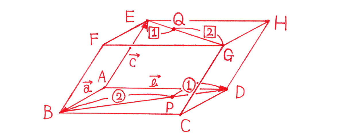 高校数学B ベクトル27 練習 答えの図