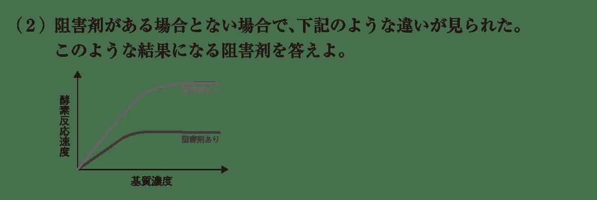 高校 生物 細胞22 練習 (2)問題文、図