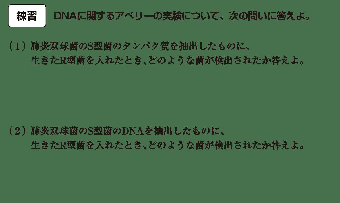 高校 生物基礎 遺伝子2 練習 カッコ空欄