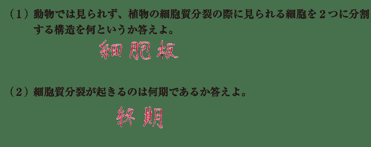 高校 生物基礎 遺伝子19 練習(2)