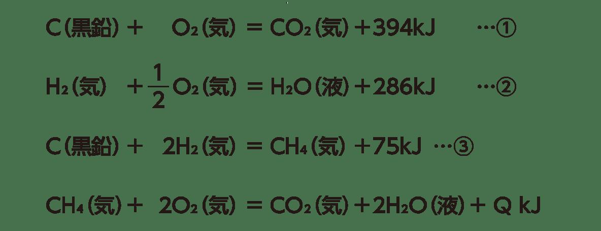 高校化学 化学反応とエネルギー9 ポイント1 4つの式のみ