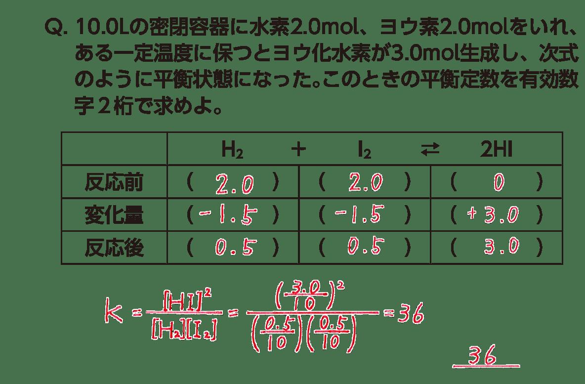 高校化学 化学反応の速さと平衡9 ポイント2 答えあり