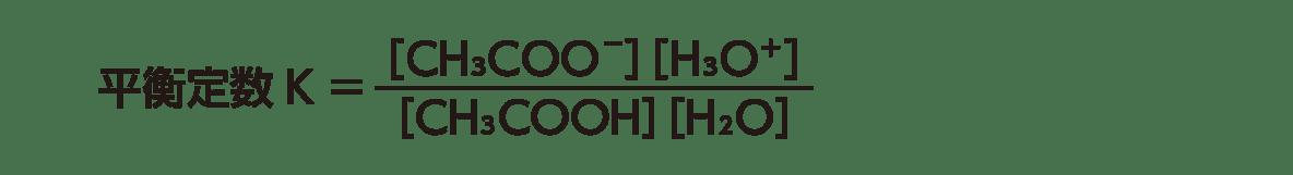 高校化学 化学反応の速さと平衡13 ポイント2 平衡定数の式 答えあり