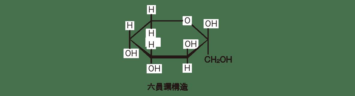 高校 化学 6章 2節 9 1 六員環構造の構造式